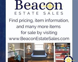 Visit www.BeaconEstateSales.com to see more items for sale and find pricing.