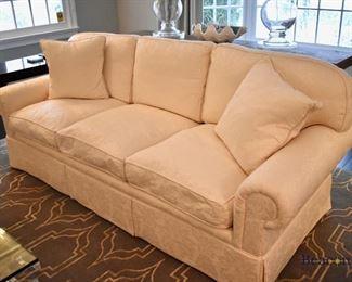 EJ Victor damask sofa