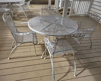 Woodard white mesh patio set #1 of 3 sets