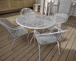 Woodard white mesh patio set #2 of 3 sets