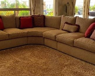 Thomasville Custom Sectional w Decorative Pillows...Perfect for the Whole Family