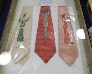 Milton Caniff Pinup Girl Silk Ties
