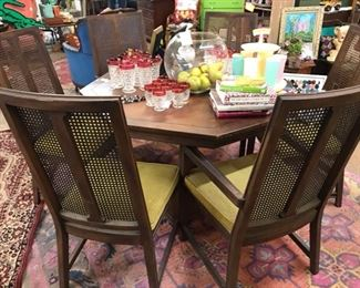 MCM dining table and 6 chairs