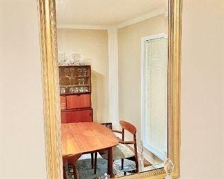 Gilt beveled decorator mirror