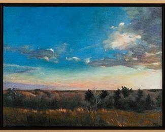 Barbara WatermanPeters Gloaming, Flint Hills Oil on Canvas