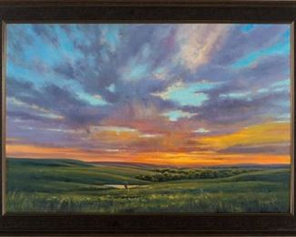 Cristine Sundquist Kaleidescope Over the Hills Oil on Canvas
