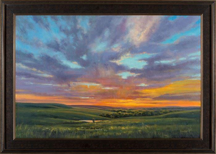 Cristine Sundquist Kaleidescope Over the Hills Oil on Canvas