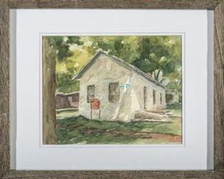 Darla Zook Last Chance Store, Council Grove, Kansas Watercolor