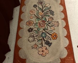 2.5 x 4 antique hooked rug 250 Best