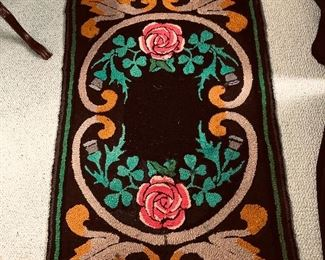 2.5x4 Antique hooked rug 250 or best