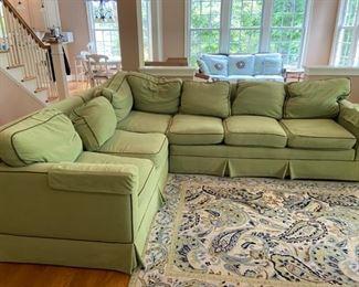 BEAUTIFUL LIME GREEN SOFA! So comfortable! Smoke free home! By Vanguard!