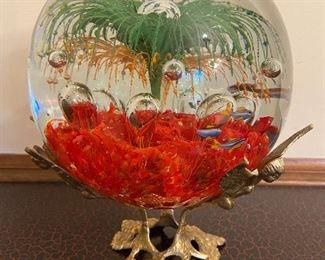 Huge Hand Blown Art Glass Ball