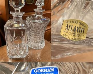 Gorham Crystal from Germany Crystal Decanter  Atlantis Full Lead Crystal Decanter