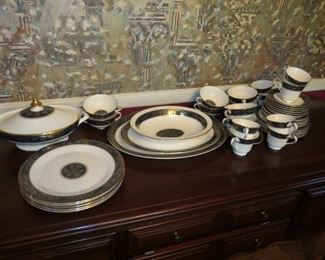65+ PIECES ROYAL DOULTON.  CARLYLE PATTERN.  EARLY SALE.  $750.