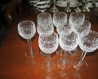 10 WATERFORD COLLEEN WINE GOBLETS.  EARLY SALE.  $35 EACH.