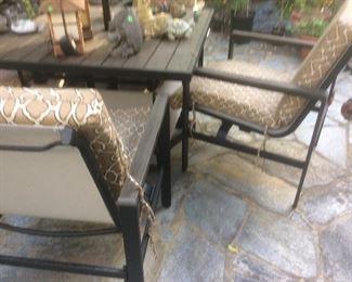 Outdoor furniture close up