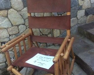 Leather chair from Costa Rica