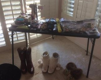 Women's costume jewelry and boots