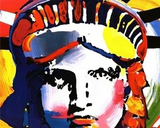 Auction Peter Max Liberty Head