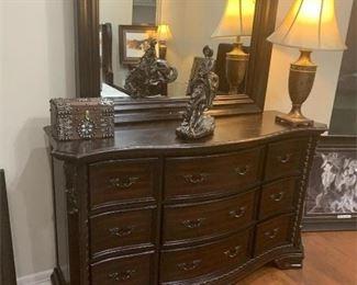 ao king bedroom set dresser