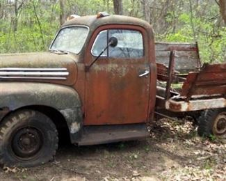 1951 Ford Flatbed Truck, Serial No 2R1KC28902