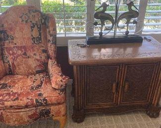 Chair, 120.00, 2 door cabinet, 120.00