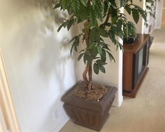Large potted Faux tree, 40.00