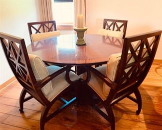 Beautiful Round Dining Table and Chairs