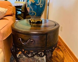 Lovely Occasional Table and Fine Lamp