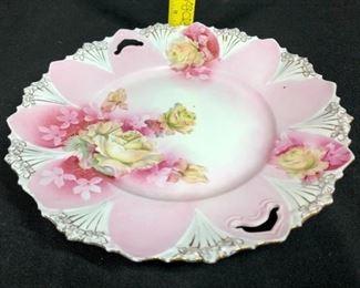 Pink Yellow Cake Plate
