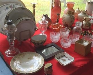 China, porcelain, glassware.