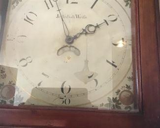 Jedediah Weif (Weiss) tall case clock.