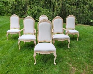 $750 (set) armchairs (2): 46 x 24 x 20, side chairs (4): 46 x 21 x 20