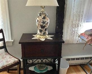 End table to match bed & dresser.  Add'l decor.