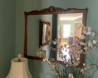 Darling Eastlake mirror - this would be great over the matching dresser or even in a powder room.  So many endless possibilities!