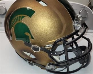 $ 100 , Mark D'Antonio Autographed Michigan State Helmet, from 2011 Michigan State Combat Uniform
