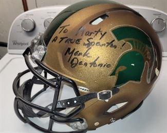 $   100 , Mark D'Antonio Autographed Michigan State Helmet.  From 2011 Michigan State Combat Uniform