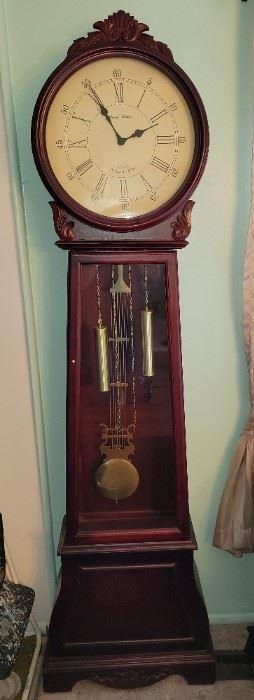 "$175, Daniel Dakota Westminster Chime Grand Father clock.  23.5 x 10.5"" x 82"""