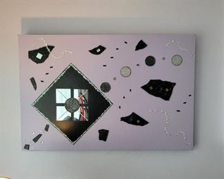 "$20,  Lavender Art #1, 36""x 24"""