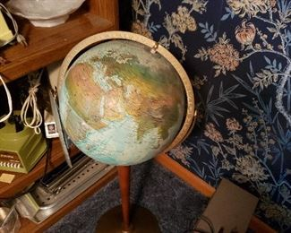 Nice globe with paper work still attached