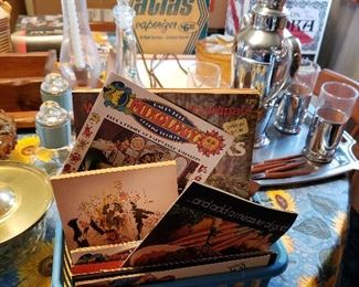 Variety of mixology brochures and recipes