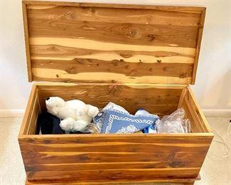 "6- $120 Cedar hope chest / trunk Hinge broken 37""L x 17""D x 17""T"