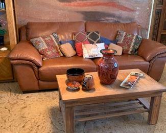 Copenhagen Leather Sofa / Love Seat