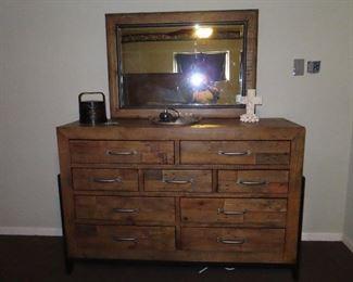 Farmhouse Dresser with Mirror