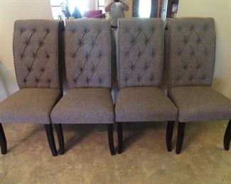 Set of 4 Gray High Back Chairs