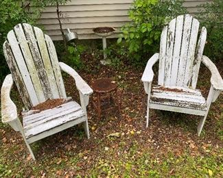 Yard Decor:                                                                             Adirondack Chairs: Sit back and relax, sort of....
