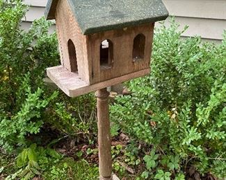 Bird House: Here is where the cats hang out.