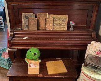 Antique Walnut Conover Piano