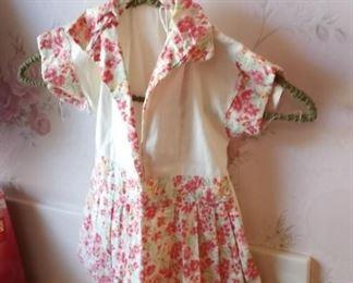 Little vintage clothes on dress
