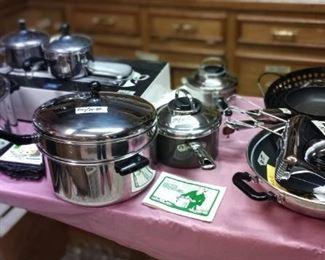 Farberware pots, pans & hand mixer.